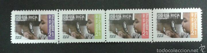 SELLOS DE COSTA RICA. YVERT 698/701. SERIE COMPLETA NUEVA SIN CHARNELA. (Sellos - Extranjero - América - Costa Rica)