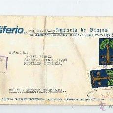 Sellos: COSTA RICA CORREO AEREO 1980 SOBRE COMERCIAL VOLADO DESDE COSTA RICA A COLOMBIA . Lote 54604767