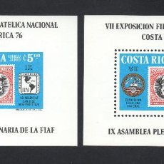 Sellos: COSTA RICA HB 10/10A** - AÑO 1976 - EXPOSICIÓN FILATÉLICA NACIONAL COSTA RICA 1976. Lote 57354884