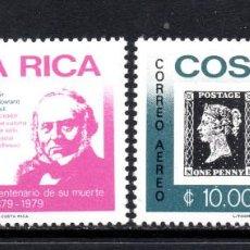 Sellos: COSTA RICA AEREO 745/46** - AÑO 1979 - CENTENARIO DE LA MUERTE DE SIR ROWLAND HILL. Lote 58490729