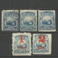 Sellos: COSTA RICA 1862-1883 VARIOS USADOS O SIN GOMA. Lote 79568061