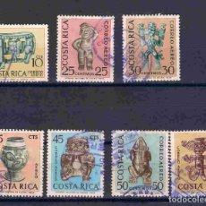 Francobolli: ARTE PRECOLOMBINO, COSTA RICA, SELLOS AÑO 1964. Lote 81565764