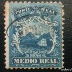 Sellos: COSTA RICA , YVERT Nº 1 , AÑO 1862 BARCO VELERO. Lote 85627560
