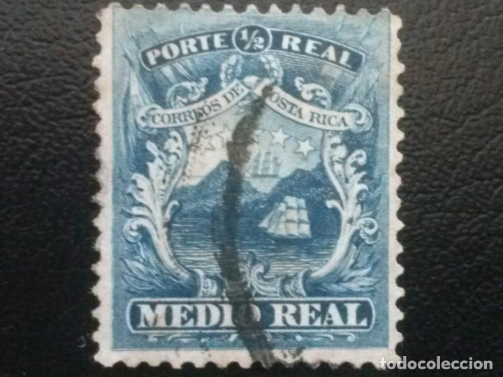 COSTA RICA , YVERT Nº 1 , AÑO 1862 BARCO VELERO (Sellos - Extranjero - América - Costa Rica)