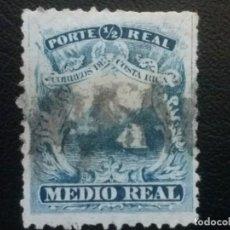 Sellos: COSTA RICA , YVERT Nº 1 , AÑO 1862 BARCO VELERO. Lote 85627656