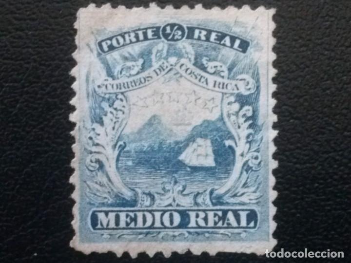 COSTA RICA , YVERT Nº 1 , AÑO 1862 BARCO VELERO , NUEVO SIN GOMA (Sellos - Extranjero - América - Costa Rica)