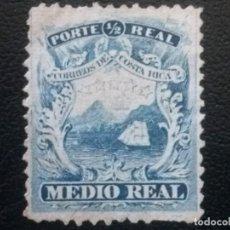 Sellos: COSTA RICA , YVERT Nº 1 , AÑO 1862 BARCO VELERO , NUEVO SIN GOMA. Lote 85627860
