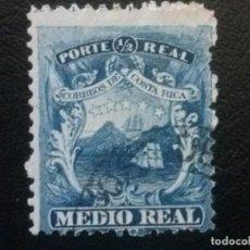 Sellos: COSTA RICA , YVERT Nº 1 , AÑO 1862 BARCO VELERO . Lote 85627928