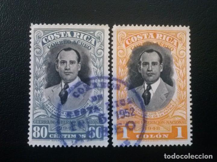 COSTA RICA , CORREO AÉREO , YVERT Nº 194 Y 195 , 1950 (Sellos - Extranjero - América - Costa Rica)