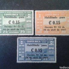 Sellos: COSTA RICA. YVERT A-143/5. SERIE COMPLETA NUEVA SIN CHARNELA. DEPORTES. FÚTBOL. SOBRECARGADOS. Lote 103923958