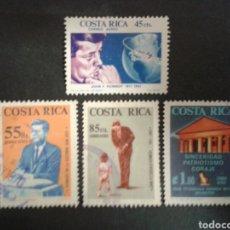 Sellos: COSTA RICA. YVERT A-409/12. SERIE COMPLETA USADA. J.F. KENNEDY. Lote 106108128