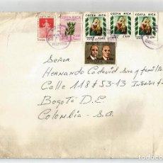Sellos: COSTA RICA CORREO AEREO 1980 CARTA VOLADA DESDE COSTA RICA A COLOMBIA. Lote 121122811