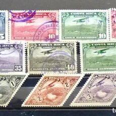 Sellos: COSTA RICA Nº 215 IVERT- 10 SELLOS USADOS. Lote 121260035