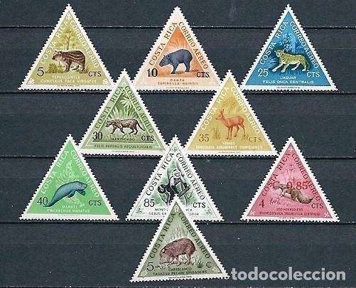 COSTA RICA 1963,PROTECCIÓN DE LA FAUNA SALVAJE,NUEVOS,MNH**,YVERT 347-348,350,352-353,355-358 (Sellos - Extranjero - América - Costa Rica)