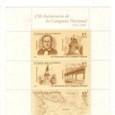 Sellos: COSTA RICA HB 150 ANIV. CAMPAÑA NACIONAL, 2006. Lote 132206618