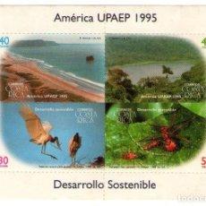 Sellos: COSTA RICA, UPAEP´95 HB 597/600, NATURALEZA.. Lote 132207758