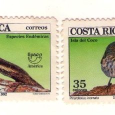 Sellos: COSTA RICA UPAEP´92. 559/60. FAUNA. Lote 132210042
