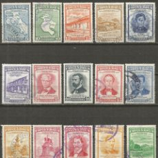 Sellos: COSTA RICA CORREO AEREO YVERT NUM. 254/270 SERIE COMPLETA USADA CENTENARIO DE LA GUERRA 1856-57. Lote 140414886