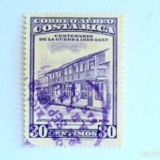 Sellos: SELLO POSTAL COSTA RICA 1957, 30 C ,CENTENARIO DE LA GUERRA 1856-1857, USADO. Lote 154738350