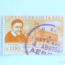 Sellos: SELLO POSTAL COSTA RICA 1960 ,1 COLÓN ,III CENTENARIO DE SAN VICENTE DE PAUL 1660-1960, USADO. Lote 154788070