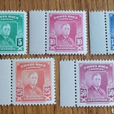 Sellos: COSTA RICA: N°235/39, POLÍTICOS ROOSEVELT, MNH. AÑO 1947.. Lote 158117342