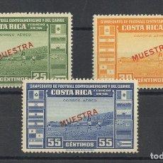 Sellos: COSTA-RICA, AÉREO. MNH **YV 136/38. 1946. SERIE COMPLETA. MUESTRA. MAGNIFICA. REF: 31776. Lote 183119271