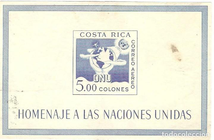 COSTA RICA,1961,CAT.MI.BL5,RESTOS DE PAPEL ADHERIDO DORSO, MANCHADA. (Sellos - Extranjero - América - Costa Rica)