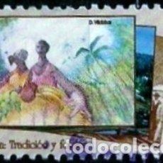 Sellos: COSTA RICA SCOTT: 0489D (LIMÓN, TRADICION Y FLOKLOR) USADO. Lote 192369192