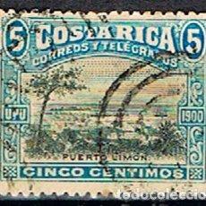 Sellos: COSTA RICA Nº 44 (AÑO 1901), PUERTO LIMÓN, USADO. Lote 199971783