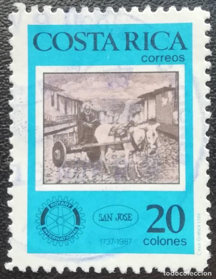 1987. COSTA RICA. 488. 250 ANIV. FUNDACIÓN DE LA CIUDAD DE SAN JOSÉ. CARRO TIRADO POR UN ASNO. USADO (Sellos - Extranjero - América - Costa Rica)
