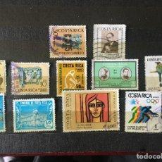 Sellos: SELLOS COSTA RICA, LOTE DE 13 SELLOS USADOS. Lote 202073235