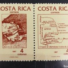 Sellos: COSTA RICA, V CENTENARIO DEL DESCUBRIMIENTO DE AMÉRICA 1987 MNH (FOTOGRAFÍA REAL). Lote 211475005