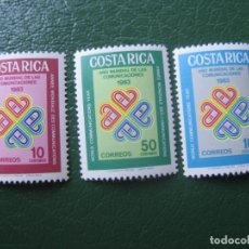 Sellos: *COSTA RICA, 1983, AÑO MUNDIAL DE LAS COMUNICACIONES, YVERT 356/58. Lote 242860830
