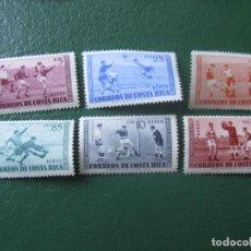 Sellos: *COSTA RICA, 1960, 3 CAMPEONATOS PANAMERICANOS DE FUTBOL, YVERT 283/88 AEREOS. Lote 242864695