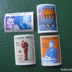 Sellos: *COSTA RICA, 1965, HOMENAJE A JOHN F. KENNEDY, YVERT 409/12 AEREOS. Lote 242867380