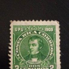 Sellos: COSTA RICA 2 CENTIMOS, JUAN MORA, AÑO 1909.. Lote 245446295