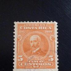 Sellos: COSTA RICA 5 CENTIMOS, MAURO FERNANDEZ, AÑO 1909.. Lote 245447820