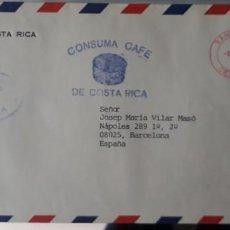 Sellos: CARTA CIRCULADA COSTA RICA ESPAÑA BANCO CENTRAL CAFÉ FRANQUEO MECÁNICO. Lote 247732710