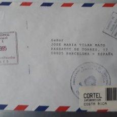 Sellos: CARTA CERTIFICADA OFICIAL CIRCULADA COSTA RICA ESPAÑA CORTEL CORREOS. Lote 247737725