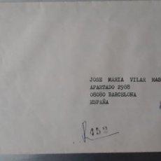 Sellos: CARTA CERTIFICADA DE OFICIO CIRCULADA COSTA RICA ESPAÑA CORTEL CORREOS. Lote 247739060