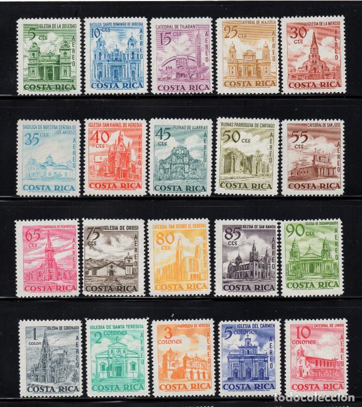 COSTA RICA AEREO 444/63** - AÑO 1967 - ARQUITECTURA - EDIFICIOS RELIGIOSOS (Sellos - Extranjero - América - Costa Rica)
