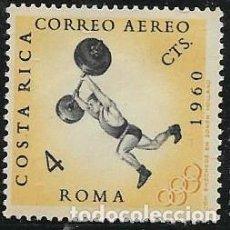 Sellos: COSTA RICA AÉREO YVERT 304 NUEVO CON GOMA Y CHARNELA, DEPORTES. Lote 264173776
