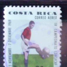 Sellos: SELLO DE COSTA RICA IV CAMPEONATO CONCACAF 1969 (MATASELLADO). Lote 275276338