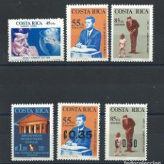 Sellos: COSTA RICA PA N°409/12 + 420 + 422* (MH) 1965/66 - JOHN F. KENNEDY. Lote 287663398
