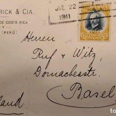 Sellos: O) 1911 COSTA RICA, MAURO FERNANDEZ SCT 62 5C, HABILITADO 1911 OVERPRINTE, HENRI FRICK Y CIA, PAPELE. Lote 288300458