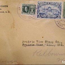 Sellos: O) 1924 COSTA RICA, RODRIGO ARIAS MALDONADO, COLEGIO DE SAN LUIS CARTAGO, CORREO GENERAL, ALEX A. CO. Lote 288300508