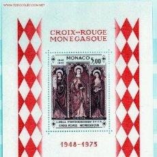 Sellos: MONACO HB 7** - AÑO 1973 - 25º ANIVERARIO DE LA CRUZ ROJA DE MONACO. Lote 26008204
