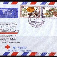 Sellos: ALEMANIA - AÑO 1980 - BARCO DE LA CRUZ ROJA ALEMANA MS. FLORA. Lote 5294343