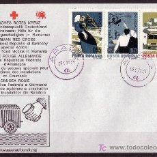 Sellos: ALEMANIA SOBRE DE LA CRUZ ROJA - AÑO 1970 - AYUDA A RUMANIA. Lote 5382951