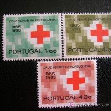 Sellos: PORTUGAL 1965 IVERT 968/70 *** CENTENARIO DE LA CRUZ ROJA. Lote 25178650